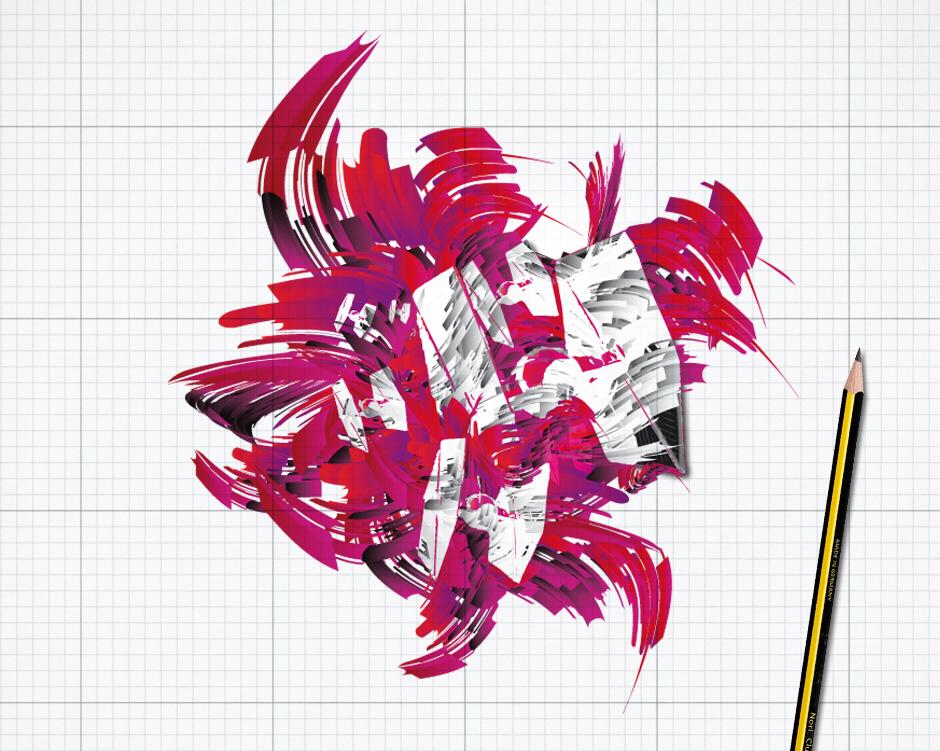 Vezerrte 3D-Vektor-Schrift