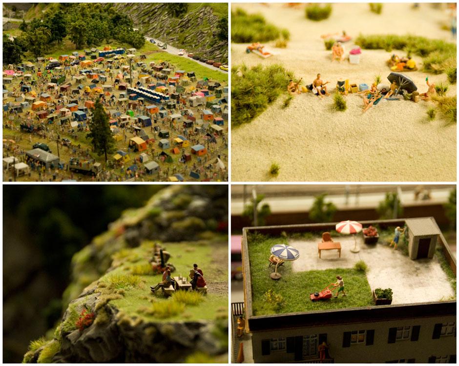 Detailaufnahmen im Miniaturwunderland Hamburg