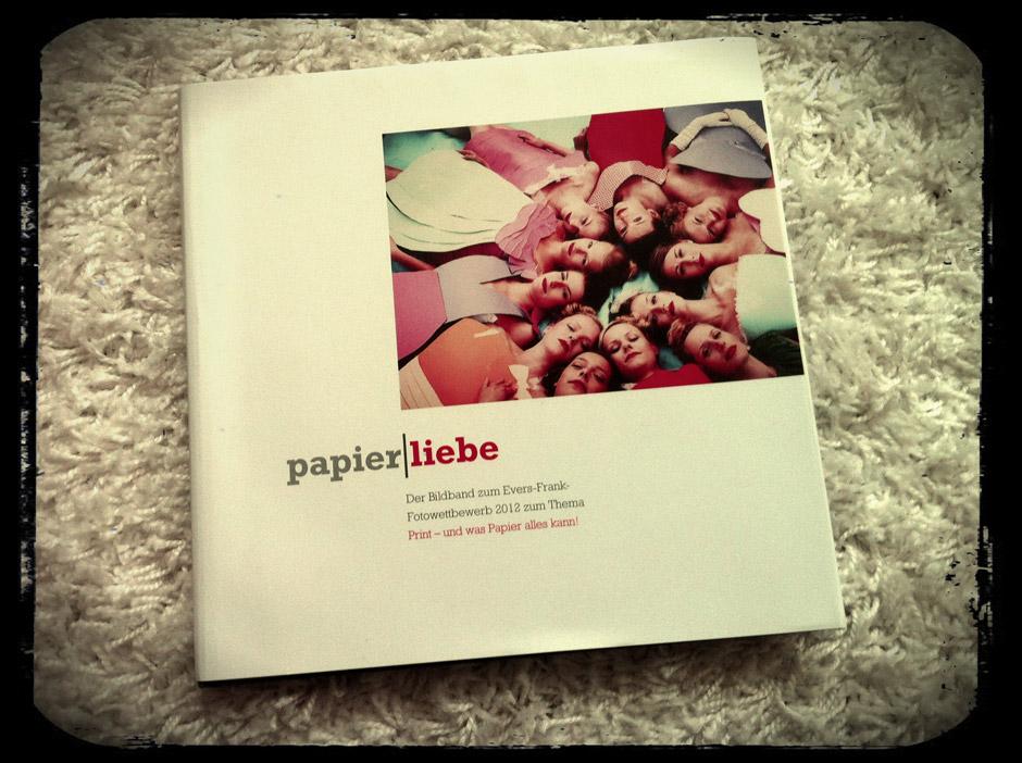 """Cover vom Bildband """"papierliebe"""""""