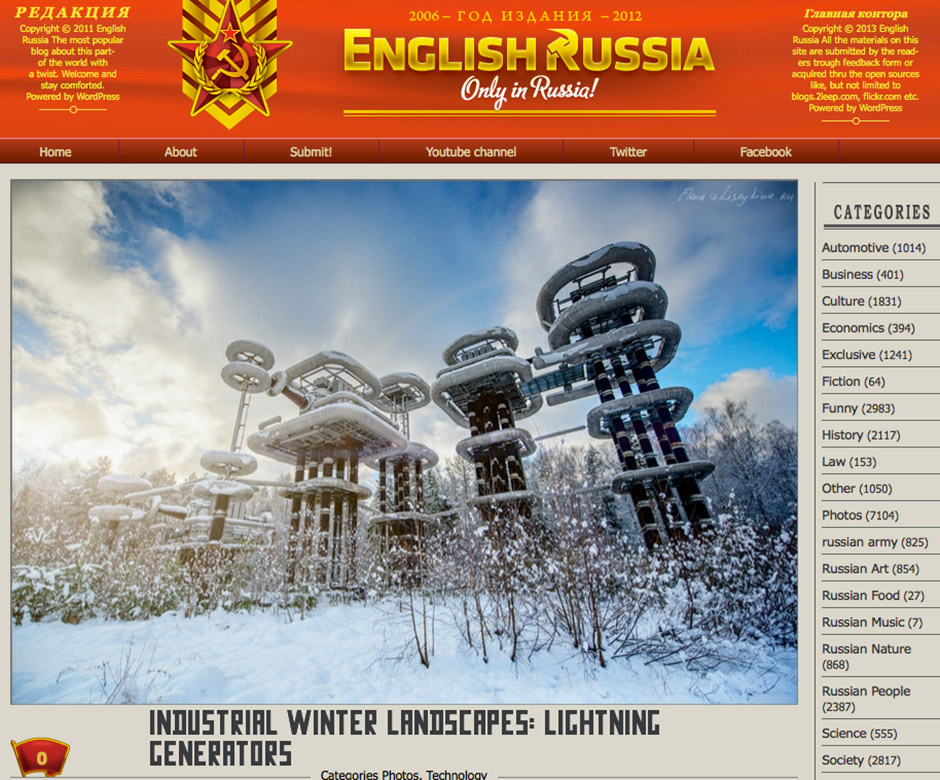 Der Blog English Russia - Startseite