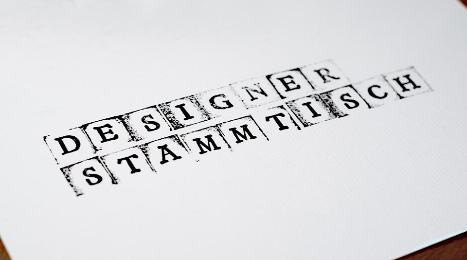 Designer Stammtisch - Logo gestempelt