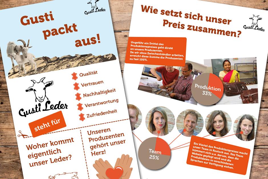 Erstellung von Infografik für Gusti-Leder-Rostock