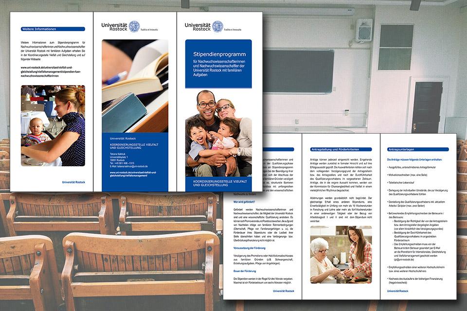 Flyer für die Universität Rostock von GERBODE-grafikdesign