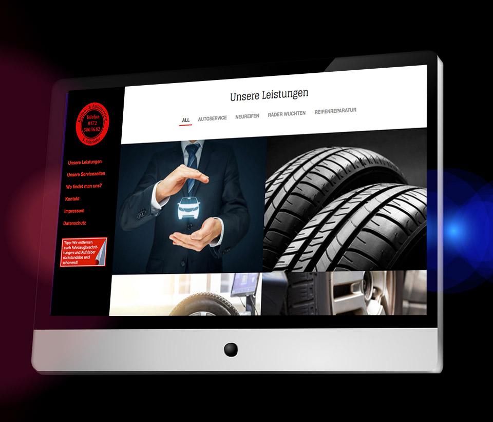Webseitendesign für Reifenservice-Autoservice Schröder