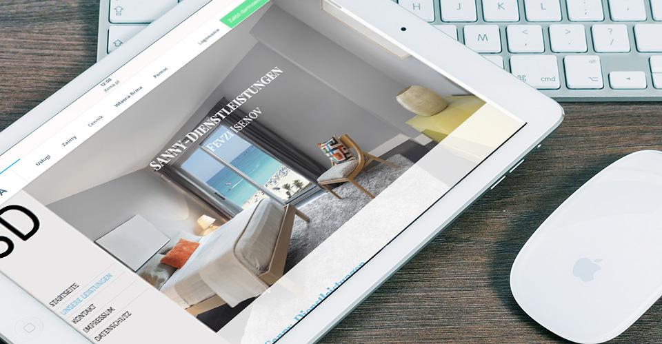 Webdesign von GERBODE-grafikdesign für Sanny-Dienstleistungen