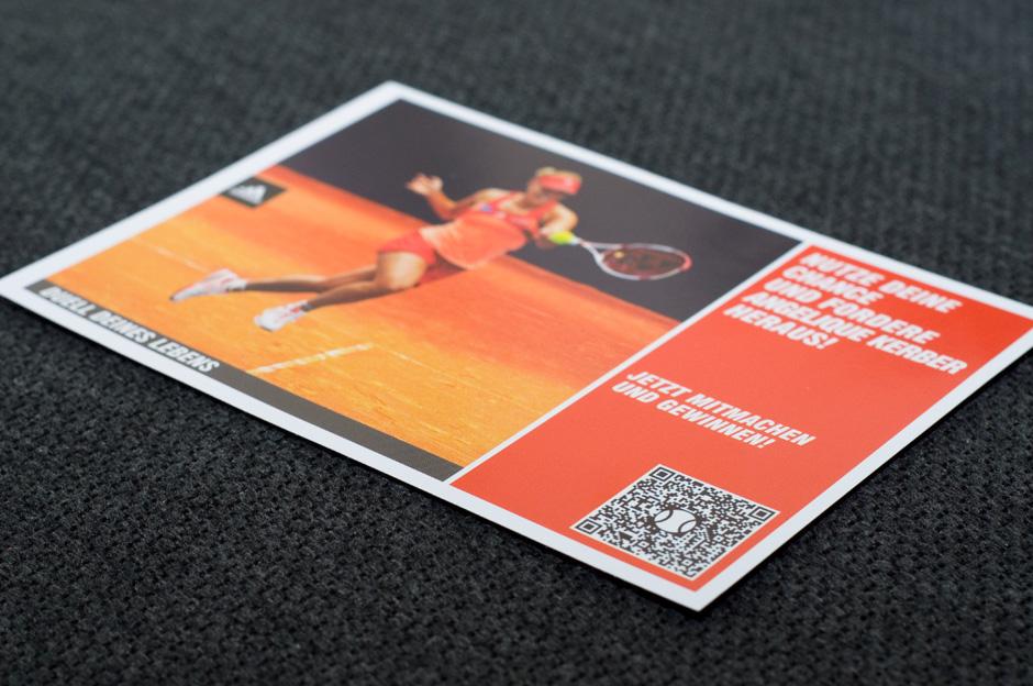 Postkarte für Gewinnspiel - CenterCourt.de