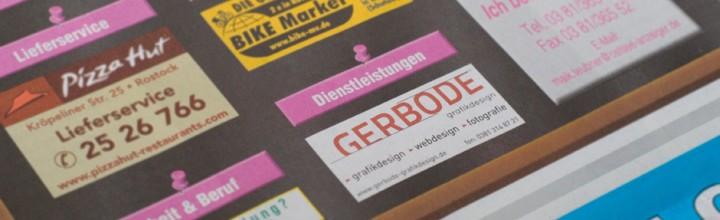 GERBODE-grafikdesign – Anzeige