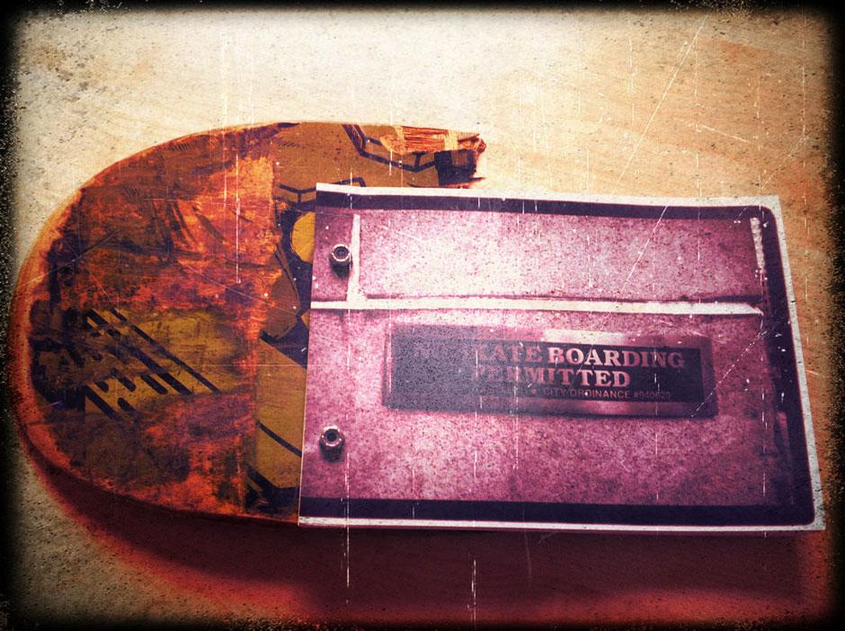 Fotobuch-Skateboard Cover
