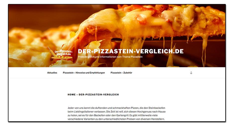 Webseite www.der-pizzastein-vergleich.de